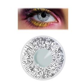 black and silver glitter contact lenses